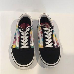 Multicolor Girls Lace Vans